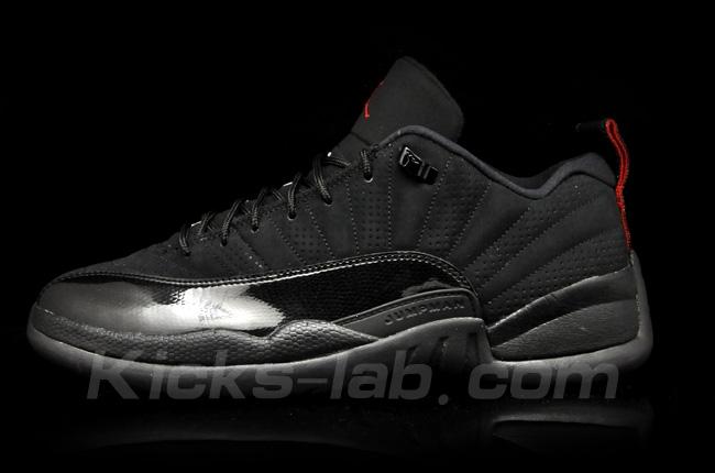 f648bc00e327 Air Jordan XII Low  Black Patent  AJ12 308317-001  169.99