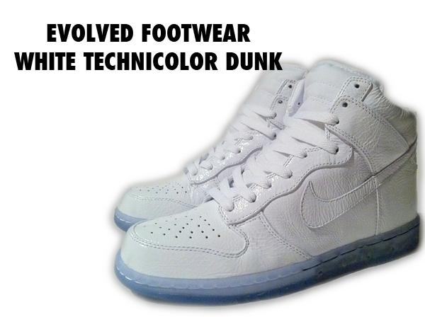 Men s White Technicolor Nike Dunk High  aae371ca3