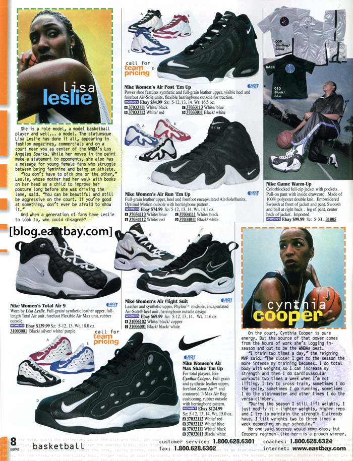 8a78899b8 Eastbay Memory Lane  WNBA Greats Revisited