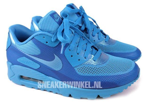 nike air max 90 hyperfuse blue glow