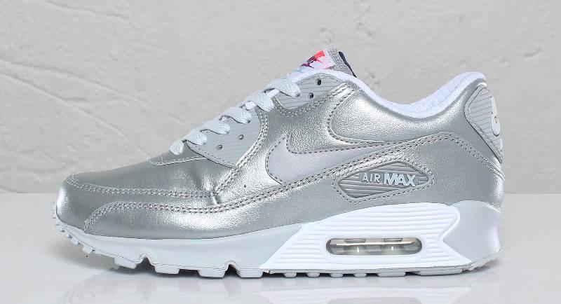 Max Air Addict 90 L Women's Nike Metallic SilverKicks The NwO8Pkn0X