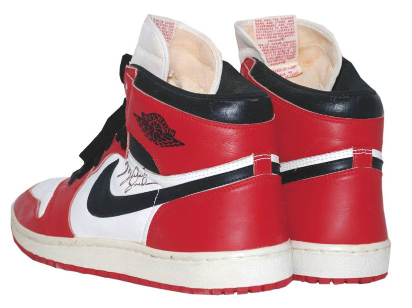 various colors ce8c4 78911 Autographed All-Star Game Used Nike Air Jordan 1 Auction ...