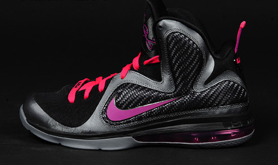 "brand new 60193 b1a69 Lebron9 ""Miami Nights"" Due out today at all major nike retailers. Nike  LeBron 9  Miami Nights  Cool Grey Vivid Grey-Black-Cherry 469764-003"