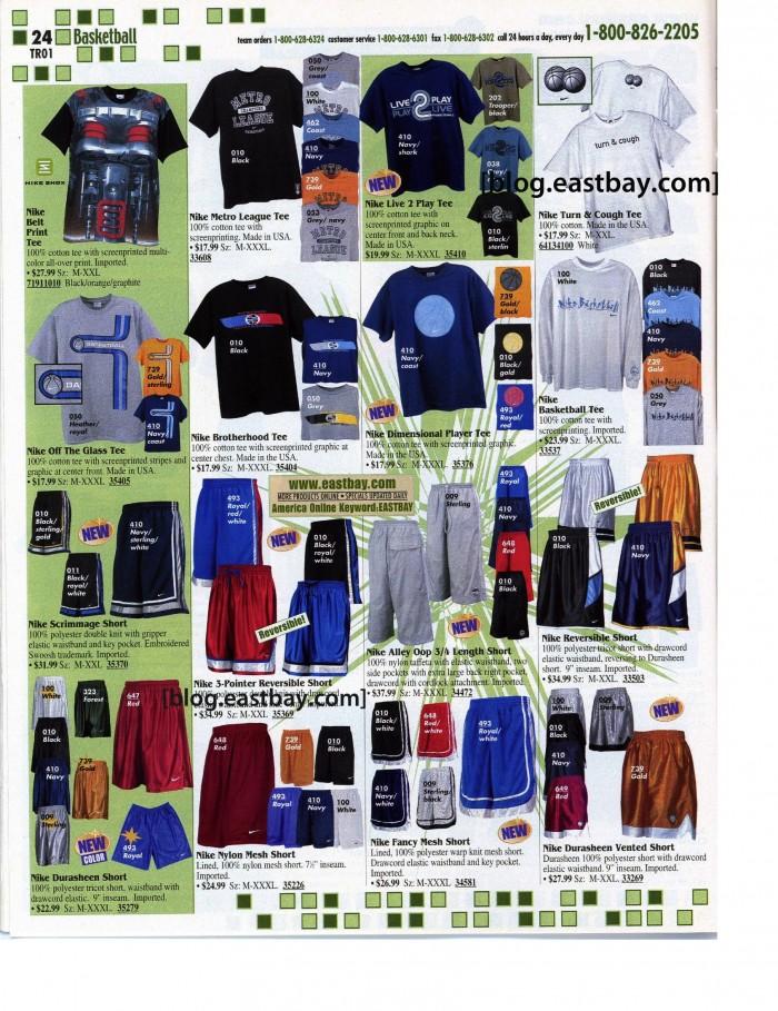 054726d5cec581 Memory Lane  Early 2000 Nike Basketball Apparel Via  Eastbay