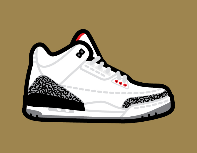 Nike Air Jordan Sneaker Art By Robb Harskamp  d1428dd186b5