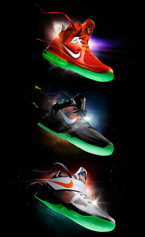 "low priced 82203 a4e2f Nike ""Galaxy"" All Star pack. Lebron 9 ( 170) Kobe System VII ( 140) KDIV  ( 95)"