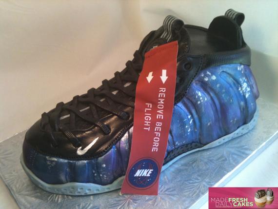 "Nike Air Foamposite One ""Galaxy"" Sneaker Cake Via  madefreshcakes ... a426786b2c"