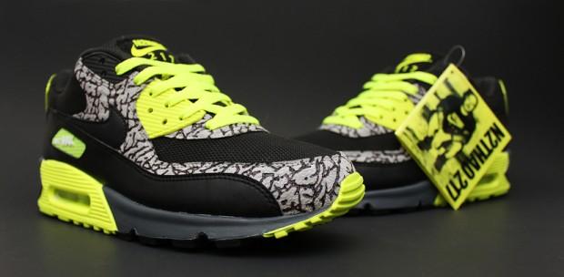 """reputable site 9b52a 47a7e Nike Air Max 90 """"112″ By Dank Customs   Kicks Addict l The Official ..."""
