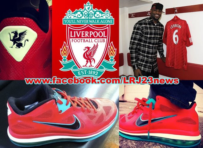 ee09795a3d2 Nike LeBron 9 Low Liverpool FC