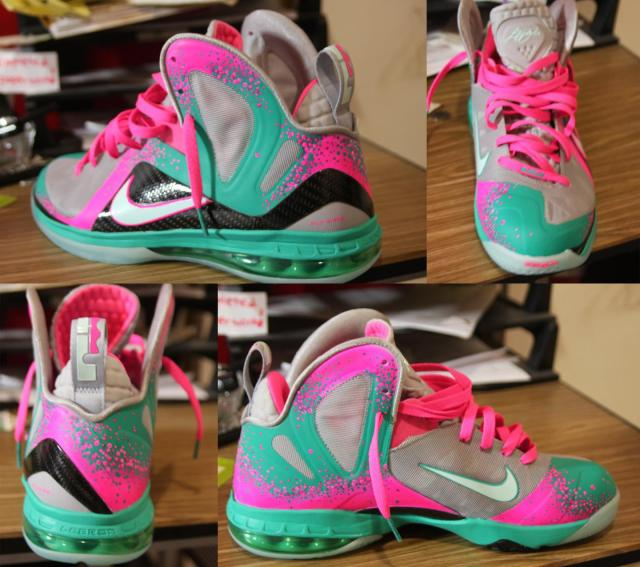 16de3e373cfb Nike Lebron 9 Elite South Beach 2.0 Custom By  Twizzcustoms