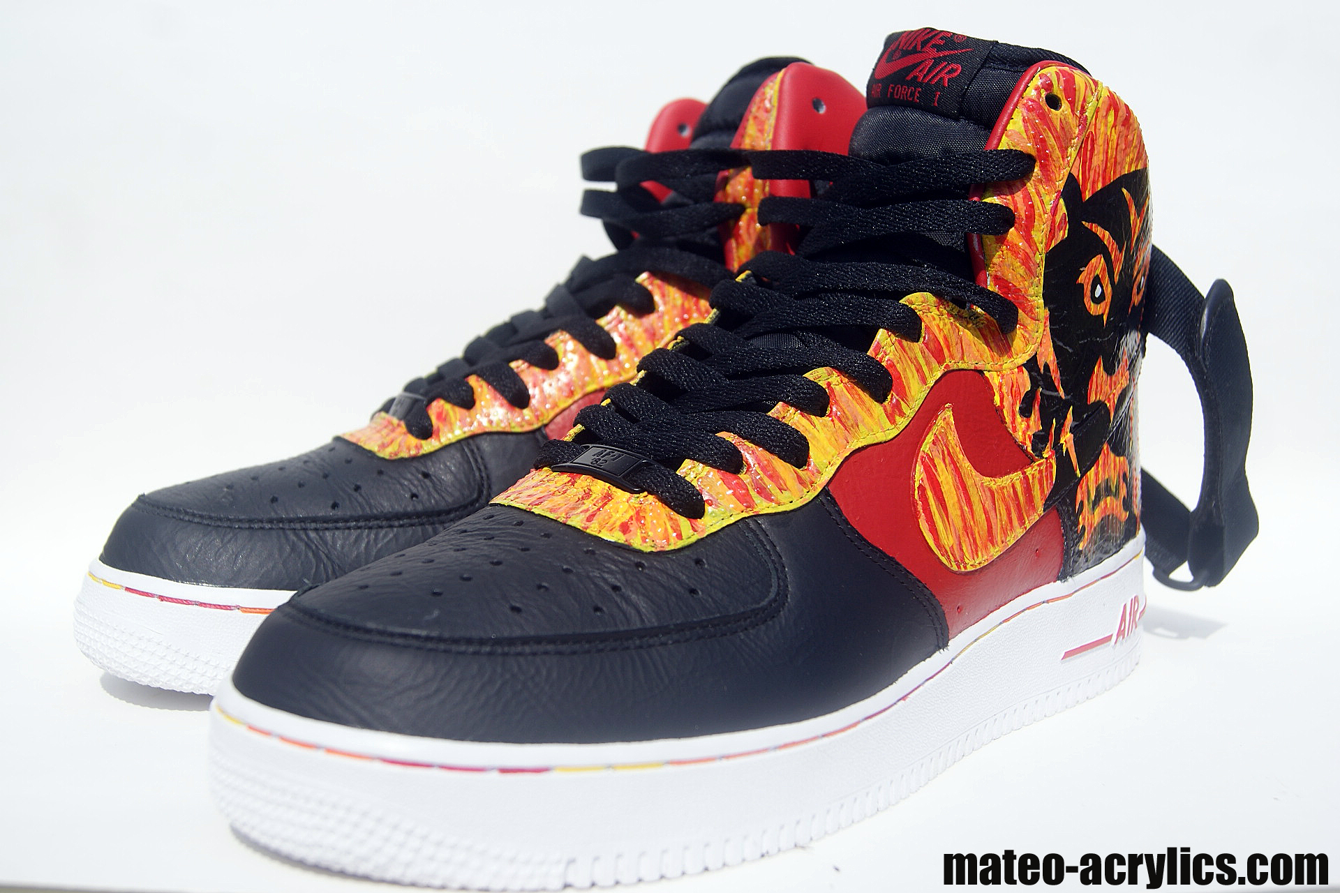 "a061bf37e436 Mateo celebrates the king s journey to the top with the Nike air Force one  High "" ..."