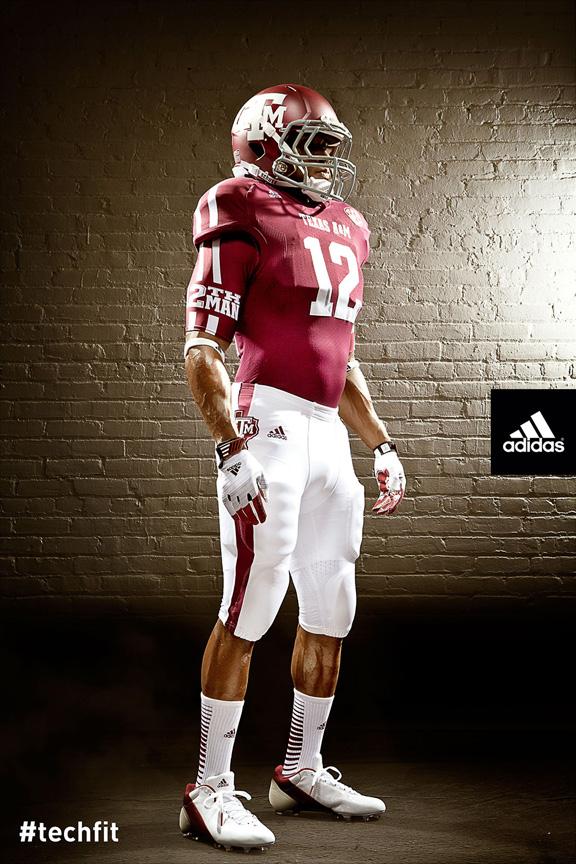 e4ee30cc4 Adidas And Texas A M Unveil Lone Star TECHFIT Football Uniforms ...