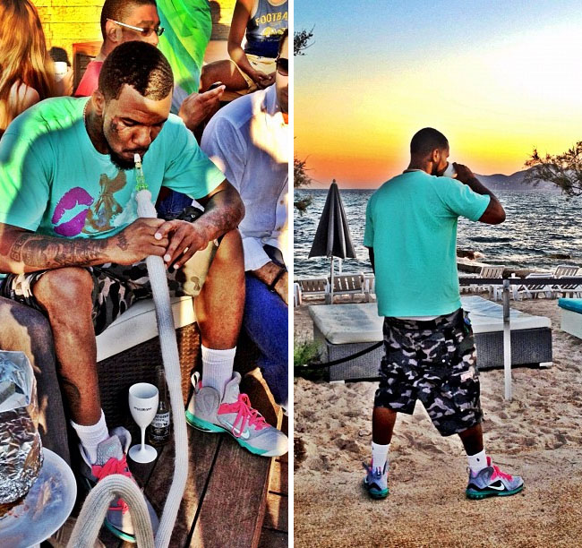 "best loved 24b86 ec727 Celebrity Sneaker Battle  The Game Vs Dj Khaled – The Nike Lebron 9 PS Elite  ""Miami Vice"""