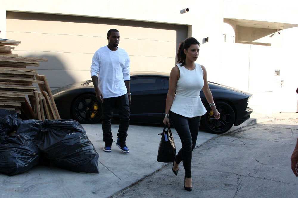 Celebrity kicks sightings kanye west rockin the nike air for Jordan royal 1 shirt