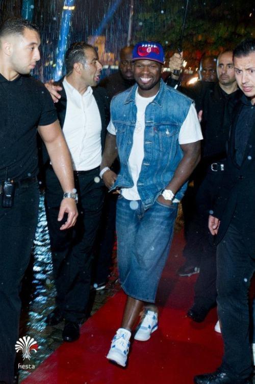 7f83b135da61e Celebrity Kicks Sightings   50Cent Spotted In The Air Jordan IV ...