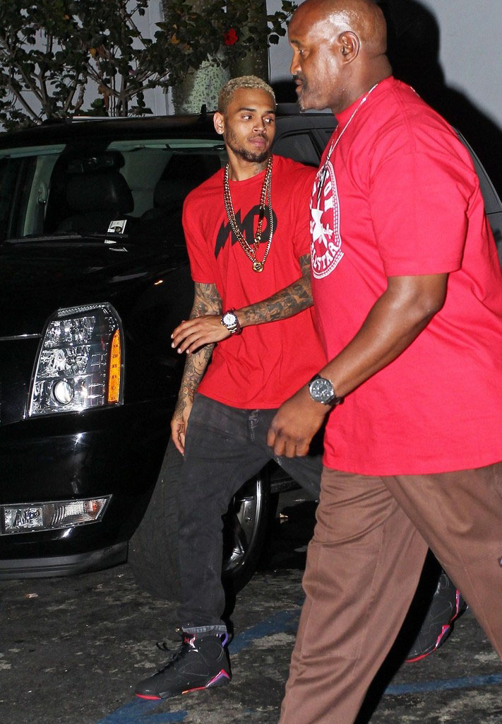 7d9ab580ad8bf7 Celebrity Kicks Sightings  Chris Brown Spotted Rockin The Air Jordan ...