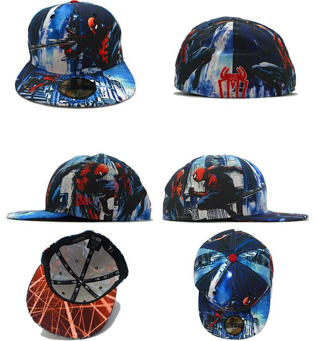 "42772103fc Marvel    New Era ""The Amazing Spiderman"" All Over Fitted"