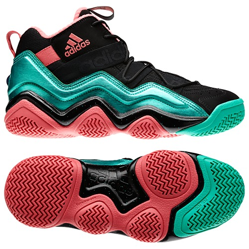 The men s adidas Top Ten 2000 shoes are a fresh take on an iconic  70s  basketball shoe. A shiny mixed-material upper rides on a multicolored  molded outsole ... 86d81cb4dc16