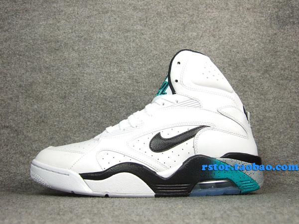 44f0dbe49a Nike Air Force 180 High 537330-100 White/Blue Emerald-Wolf Grey-Black  $130.00
