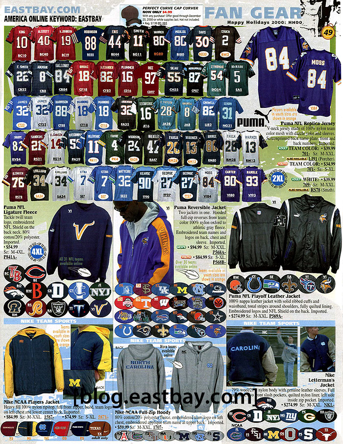 901499d31 Memory Lane  NFL Fan Gear Circa 2000 By  Eastbay