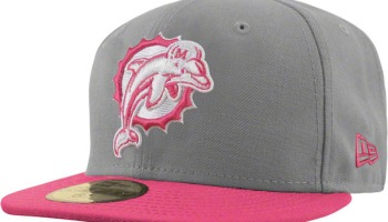 a4dd982dfc Miami Dolphins New Era 59FIFTY Breast Cancer Awareness Fitted