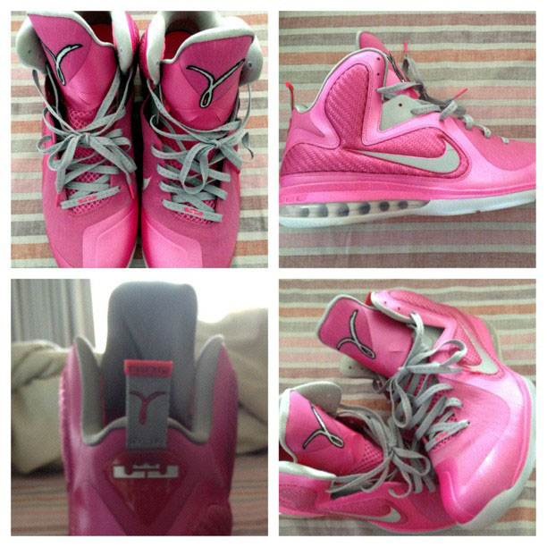 "2a68b8cb479 Lebron James took to his instagram to show off the Lebron 9 ""Kay Yow"" in  honor of Breast Cancer Awareness – Imagine if these ever hit retail"