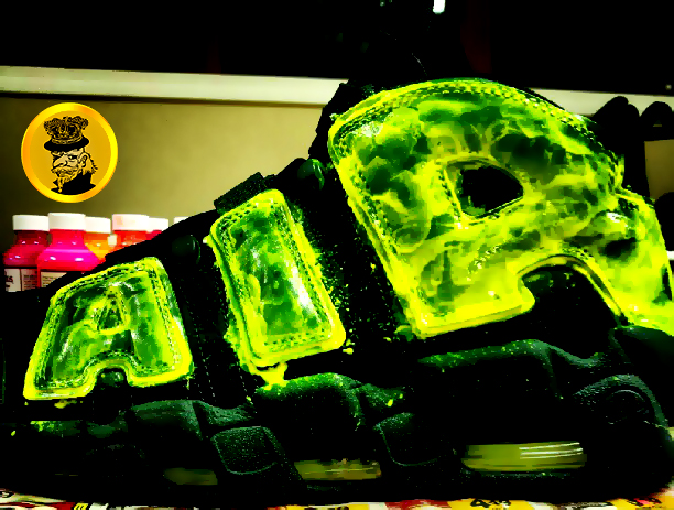 """competitive price 8f64c eada6 ... Nike Air More Uptempo """"Evergreen """" Custom By asquared121 Kicks Addict l  The Official Sneaker  Revive ..."""