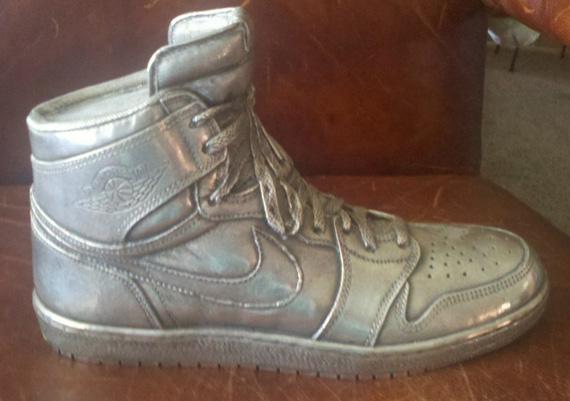 Air Jordan 1 Silver Sculpture Auction  2cba6e573