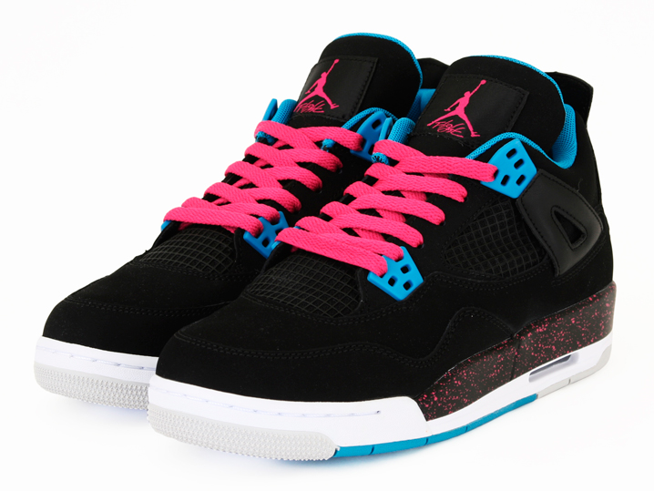 size 40 37c93 6346b ... Air Jordan 4 Retro GS Black Dynamic Blue Vivid Pink ...