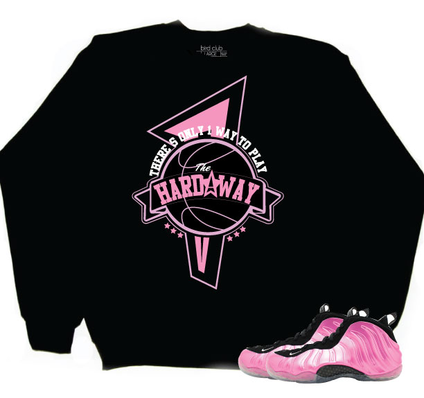 "f8db9c92dbbe2d There s Only 1 Way To Play"" Pink Foams Crew And T Shirt From ..."