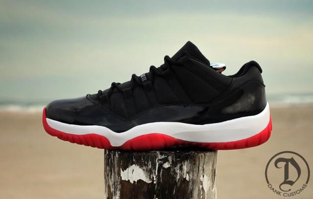 "Air Jordan XI Low ""Bred"" Customs by JWDanklefs  db24d6444c27"