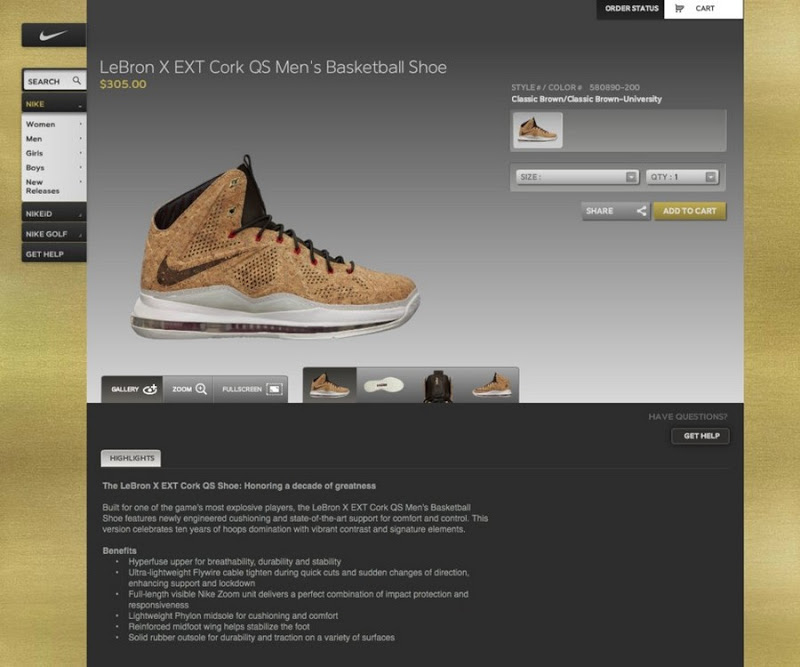 nike apr mens nike think tall lebron no no lebron james x corks flyingLebron X Cork Replica