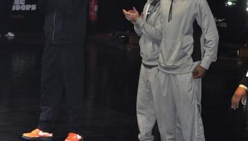a705fe959ad Celebrity Kicks Sightings  Amare Stoudemire Rockin The Nike Air Foamposite  One