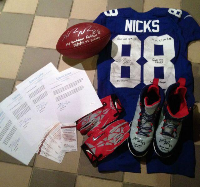 49b0d6846a09 Ebay  Air Jordan Retro 9 Hakeem Nicks PE Cleats