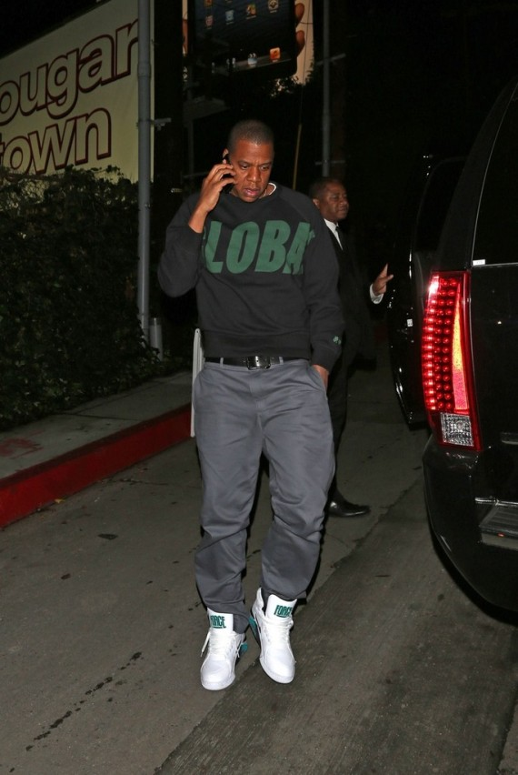 Jay Z Spotted Rockin' Nike Air Force 180's