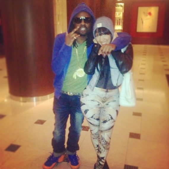"e96a68326f6 Celebrity Kicks Sightings    Wale Spotted Rockin The Nike Air Foamposite One  ""Knicks"""