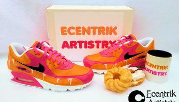"2953fd41b5 Nike Air Max 90 VT ""Nebula"" Custom By Smooth Tip | Kicks Addict l ..."