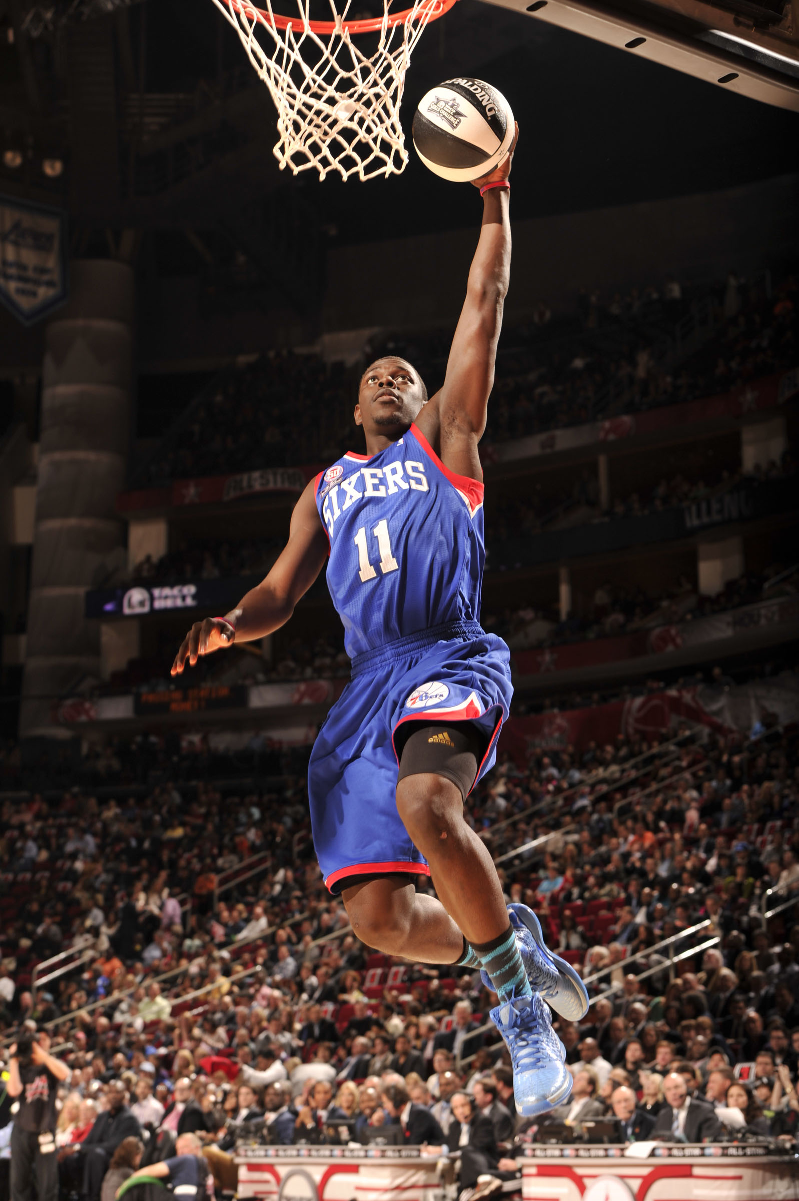 ad0b3ecaef0 Eastern Conference All-Star Jrue Holiday of the Philadelphia 76ers makes a  layup in his