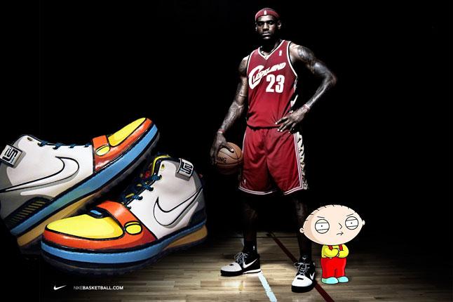 """da7382d80dc9f Nike LeBron X """"Stewie"""" Customs by  Mache275"""