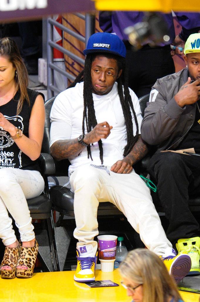9e318fe6519 Celebrity Kicks Sightings  Lil Wayne Spotted Rockin The Air Jordan 1 ...