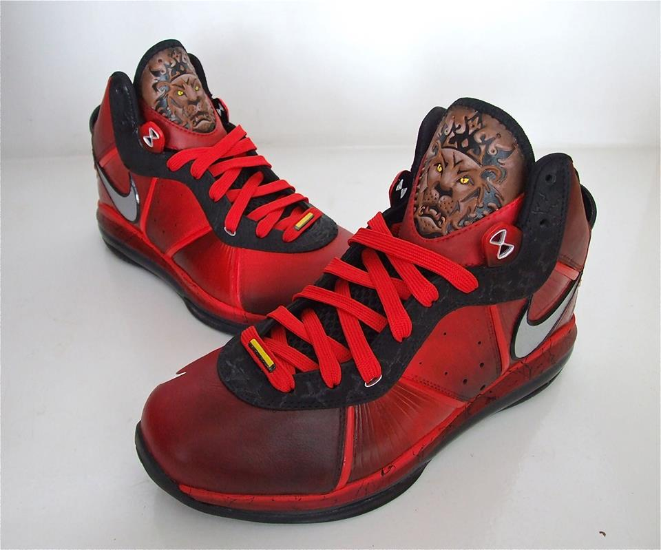 "huge selection of 58770 e4949 Nike Lebron 8 ""Hell on Earth"" Custom By Conor Burns"