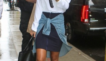 """new styles 290f5 f3f3b Celebrity Kicks Sightings  Rihanna Rockin The Air Jordan 1 """"Joker"""""""