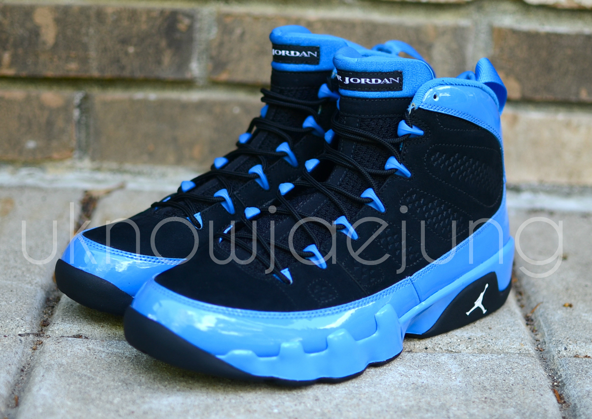 Air Jordan 9 Photo Blue Patent Leather Sample  d77abeb79a