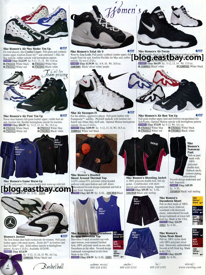 c57da5f6c Eastbay Memory Lane – Women s Basketball 1998