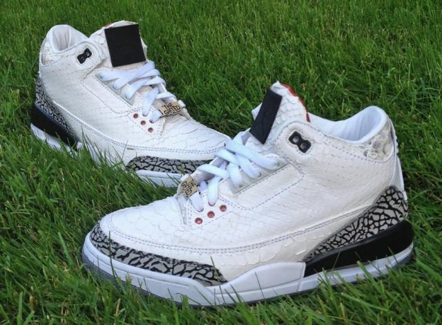 the best attitude 7dccd 8dd44 kicksaddictJBF-customs-White-Snake-3s-for-WaleJBF-customs-white-snake-3s-for -Wale-3JBF-customs-white-snake-3s-for-Wale-4JBF-customs-white-snake-3s-for-Wale-  ...