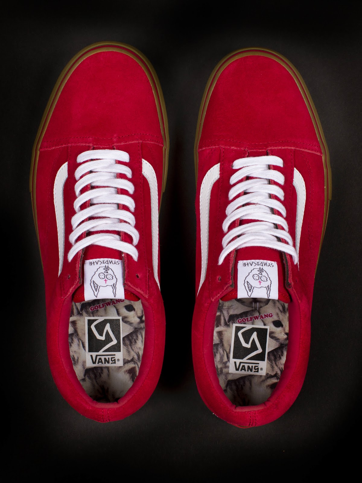 vans old skool pro s red