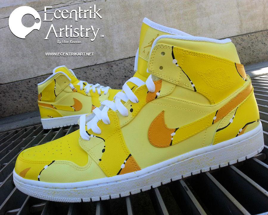 "banana 7. The Air Jordan 1 ""Banana Milkshake"" is the newest custom from  Ecentrik Artistry. aaaada57eb"