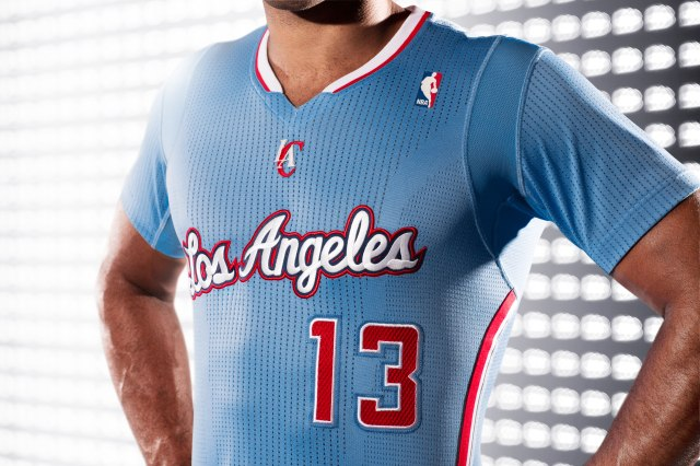 Clippers-Back in Blue-adidas Jersey Close-Up 2