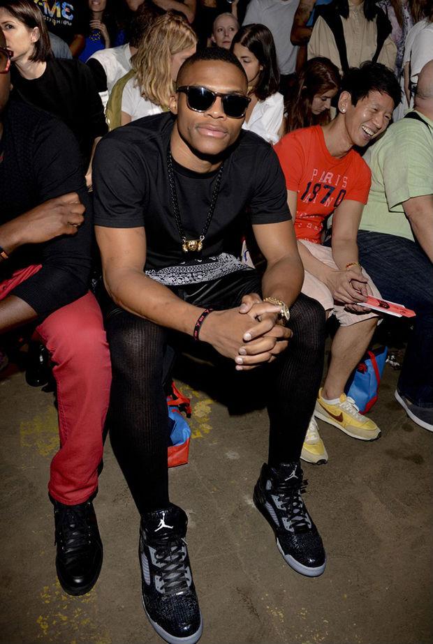 01399fa30a94 Celebrity Kicks Sightings  Russell Westbrook Rockin The Air Jordan 5 Retro  Doernbecher