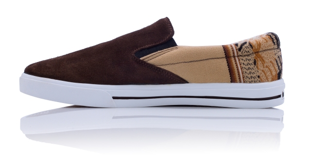 7. Leather Slip On - Desert (Left)